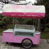Carrello dei Popsicles del bastone/carrelli del gelato di Gelato/surgelatori italiani bicicletta della vetrina (CE)