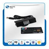 O mini leitor de cartão magnético do tamanho com leitura de todo o ISO 7811 carda Hcc750u-06