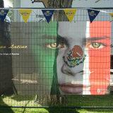 Modificado para requisitos particulares haciendo publicidad de las banderas del acoplamiento para la promoción colgante