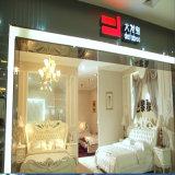 Korea-Art-modernes echtes Leder-Sofa-Bett für Wohnzimmer-Möbel - Fb8128