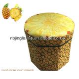 Hete Verkoop! Het Ontwerp van het Fruit van de kiwi om de Vouwbare MultiDoos/de Kruk van de Opslag van het Gebruik Niet-geweven Decoratieve