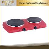 Piastra riscaldante elettrica Es-201 Cooktop elettrico del doppio bruciatore della cucina