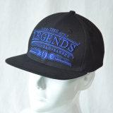 Kundenspezifischer schwarzer heißer Verkaufs-flacher Rand-Hysteresen-Schutzkappen-Hut