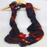 Roter/blauer Polyester-Schal, Form-Zusatzgeräten-Drucken-Schale für Damen