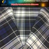 Tela de la chaqueta de los hombres del poliester en tela teñida hilado de la verificación con impermeable (YD1176)