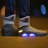 新しい方法LEDは蹄鉄を打つ未来」のLEDのHightop靴をつける人Cosplayのための白熱戦士の靴に戻る高品質に「つく