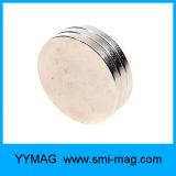 Неодимий магнитов диска плакировкой никеля N52 3/16 x 1/8