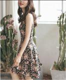 Vestido sin mangas del verano florales Impreso Muchacha Delgada