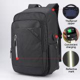 Anti sac à dos de Schooll de sac à dos d'ordinateur portatif de Mancro de loisirs de vol de type neuf du modèle 2017 avec le port USB