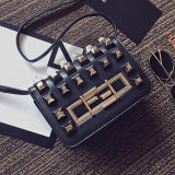 Fashion Beautiful Girl Messenger Bag Ladies Studded Handbags 2017 Spring New Shoulder Bag Sy8135