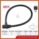 Замок велосипеда замка кабеля черной и красной безопасности Jq8219 стальной