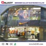 Binnen/Openlucht LEIDENE P3.75/P5/P7.5/P10/P16/P20 Transparent/Glass/Window/Curtain VideoVertoning Screen/Sign/Wall voor Reclame