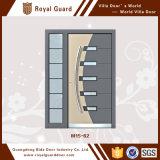 最新のデザインアルミニウムドアの主要な金属のドアデザイン
