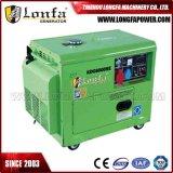 7kVA de draagbare Stille Geluiddichte Elektrische Diesel Reeks In drie stadia van de Generator met Vier Wielen
