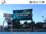 Visualizzazione di LED esterna che fa pubblicità con superiore