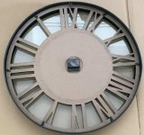 Metal+MDF+Glassの柱時計