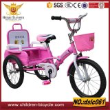 Directo venta del triciclo plástico o de acero de la cesta para el niño 3-10years