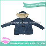 Do fato morno das crianças do inverno camisola de confeção de malhas do velo do casaco de lã para miúdos