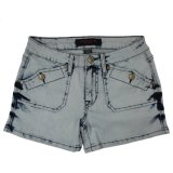 Ladeis Popular & Belle laver gros Jeans court (MY-033)