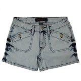 Ladeis Популярная и Ницца Стиральная Оптовая Короткие джинсы (MY-033)