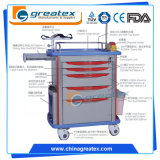 Cheap Hospital ABS Plastic Emergency Trolley / Medical Crash Cart (GT-TA2813)