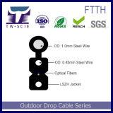 1-4 Core Itu-T G657A2 auto soportada FTTH cable de bajada