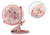 Wind mit 2 Stufen, der USB-miniCharging Ventilator mit Schelle - Weiß beschleunigt