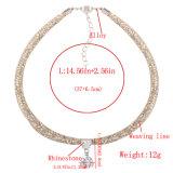 Monili di cristallo della collana del Choker del multi di strato di modo della corda diamante Braided del progettista