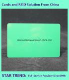 Пустая пластичная зеленая карточка Cr80/30mil для штока розничного торговца
