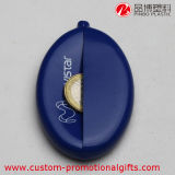 Monedero oval de la moneda del bolsillo del silicón de la dimensión de una variable con Keychain