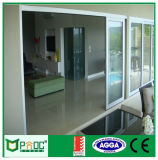 De poeder Met een laag bedekte Schuifdeuren van het Aluminium met Dubbel Aangemaakt Glas Pnoc0011