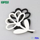 De bloem Gevormde Mat Placemat Potholder Tablemat van het Silicone BPA Vrije Dishwashable