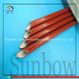 manicotto rivestito di silicone a temperatura elevata rosso della fibra di vetro di 6mm