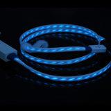 Кабель Sync заряжателя данным по USB TPE освещения СИД проблескивая
