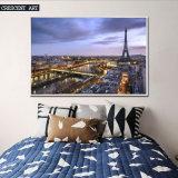 Stampa Luxuriant della pittura a olio di Vibe della città su tela di canapa