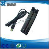 Leitor de cartão magnético cheio do USB das trilhas 138mm