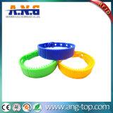 Bracelets réglables de silicones de fréquence ultra-haute de l'IDENTIFICATION RF ISO18000 pour l'hôpital