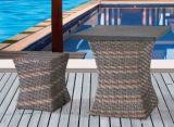 Rattan-Stuhl-Three-Piece Tisch-gesetzte im Freiengarten-Hof-Freizeit-Möbel
