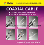Câble coaxial de liaison de la qualité 50ohm Rg174
