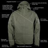 緑の戦術的な人の屋外のHoodieの軍隊のジャケット