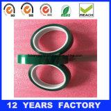 Espesor: la película verde da alta temperatura del animal doméstico de 0.06m m basó la cinta del poliester del silicón