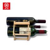 Cremalheira de madeira do vinho de Fodable de 3 frascos para o supermercado da adega da adega