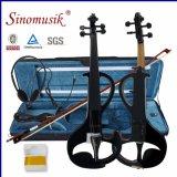 Barato 4/4 de violino elétrico contínuo do estudante com caixa do violino
