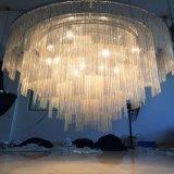 De moderne Decoratieve en Lamp van de Tegenhanger van het Project van het Kristal met Hotel