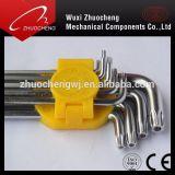 고품질 합금 강철 L 유형 안전 Torx 중요한 렌치 Torx HEX 키