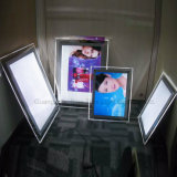 Slim Frameless Transparent Acrylic Crystal LED Light Box
