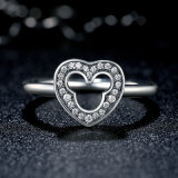 Silberner Ring 925 mit freiem Zircon-MEDA im China-Ring
