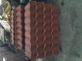 Tuile enduite enduite de tuile de toit de pierre de tôle d'acier de toit/toit de pierre