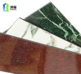 Material de construcción exterior del panel incombustible compuesto de aluminio del revestimiento