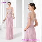Tulle elegante e laço finos decorosos de seda uma linha matriz do vestido da noiva com faixa da cintura